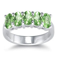 Five Stone Peridot Ring