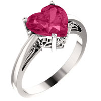 Pink Topaz Heart