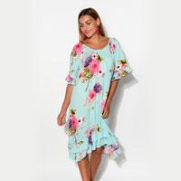 Charlotte Blue Ruffle Dress