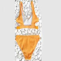 Feather Yarn Splid Bikini Set