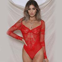 Danielle Bodysuit In Red