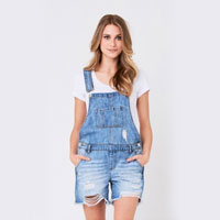 Ripe Maternity Denim Short Overalls