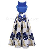 Cheap Printing Scoop Neck A-Line Cheap Evening Dress