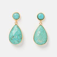 Tidal Pool Earrings Turquoise Gold