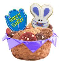 Easter Patchwork Bunny Masks Cookie Basket