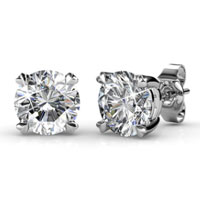 Stud Earrings Ft Swarovski Crystals