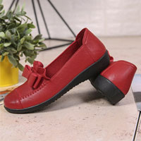 Bow Pu Lazy Flats For Women