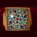 Hot Plate with Floral Decorative Ceramic Top