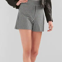 Gingham Shorts in Bi-Stretch