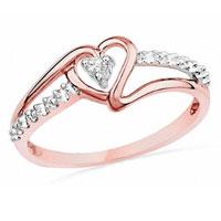 Diamond Accent Heart Promise Ring