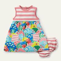 Printed Jersey Dress - Multi Coral Reef