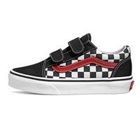 Vans Old Skool V Kids Checkerboard Black/Red/White