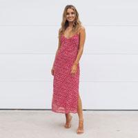 Kingston Dress - Red Floral