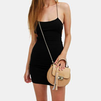 Tan Leather Cross-Body Bag