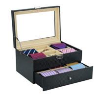 Luxury Wooden Tie Box Carbon Fiber For Ties