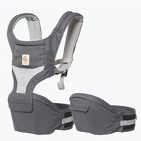 Ergobaby Carbon Grey Cool Air Mesh Hip Seat