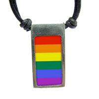 Rainbow Gay Pride Vertical Flag Pendant