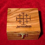 Box with Jerusalem Cross Carving on Top
