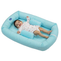 Cosy Crib Breathe Eze Tm - Turquoise Gingham
