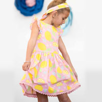 Clara Dress Pink Lemonade