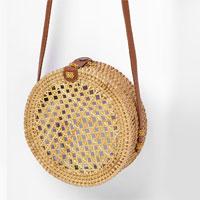 Poppy Round Basket Bag in Natural