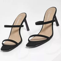 Wide Fit Double Strap Mules