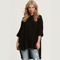 Wesley Oversized Smock In Black