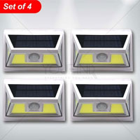 Super Bright Solar Motion Sensor Light - Pack Of 4