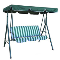 3 Seater Outdoor Swing Chair with Canopy