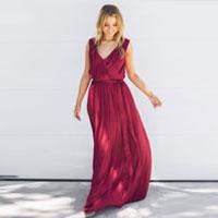 Tulip Maxi Dress Burgundy