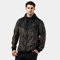Khaki tech fleece windbreaker full zip jacket