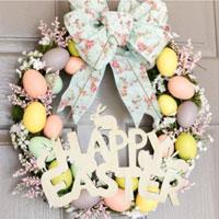 1Pcs Wood Hanger Easter Bunny Pendant Letter